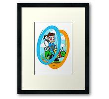 Portal-Mario Framed Print