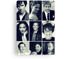sherlock cast Canvas Print