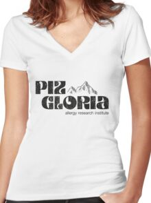 Piz Gloria - allergy research institute (worn look) Women's Fitted V-Neck T-Shirt