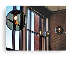 Hanging Lights, Manipulated Metal Print