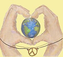 love peace and earth  by irisleibo
