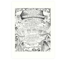 the bigger picture doodle Art Print