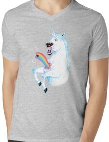 Rainbowburster Mens V-Neck T-Shirt