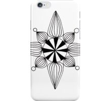 simple star black and white iPhone Case/Skin