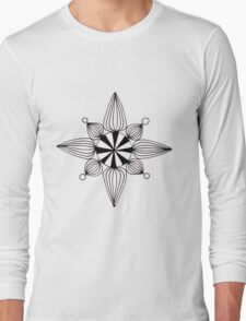 simple star black and white Long Sleeve T-Shirt