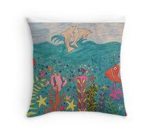Life in the Ocean Throw Pillow