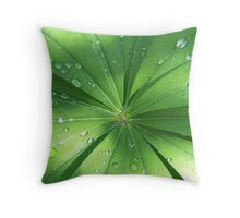 Lupin Leaves in the rain Throw Pillow