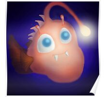 Cute Angler Fish Poster