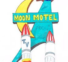 Moon Motel Sign by route96