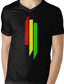 Skrillex Rasta Logo Mens V-Neck T-Shirt