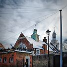 Wires, Posts and Steeple by Karen Martin