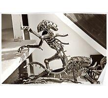 Alien Predator on teh streets Poster