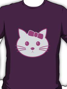 Cartoon Anime Cat Face T-Shirt