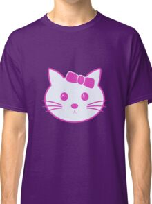 Cartoon Anime Cat Face Classic T-Shirt