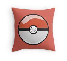 Red Pokeball Throw Pillow