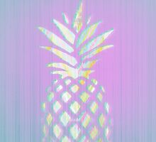 Pink pineapple fruit - Hawaii style phone case  by pinkcastel