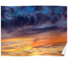 Painted Sunset Poster