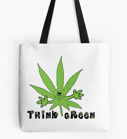 Think Green Marijuana Tote Bag