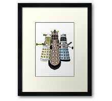 Evolution Of The Daleks Framed Print