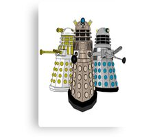Evolution Of The Daleks Canvas Print