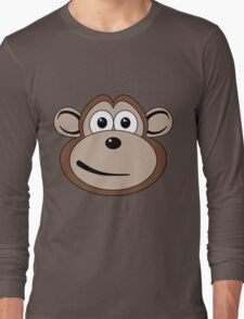 Cartoon Monkey Face Long Sleeve T-Shirt