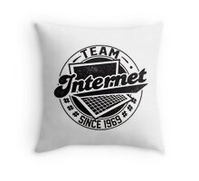 Team Internet Throw Pillow