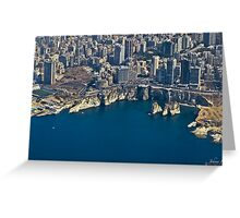 Beirut from sky Greeting Card