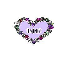 Feminist Heart - Purple Photographic Print