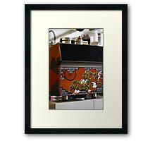 Cafe graffiti - Cafe Racer, Melbourne Framed Print
