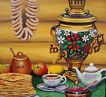 Russian Tea Time with Samovar by artbyksusha