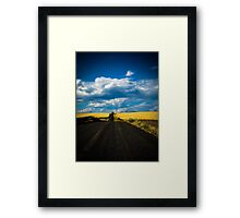 road less taken Framed Print