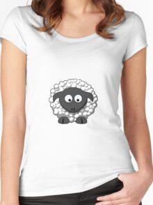 Cartoon Sheep Women's Fitted Scoop T-Shirt