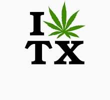 I Love Texas Marijuana Cannabis Weed Womens Fitted T-Shirt