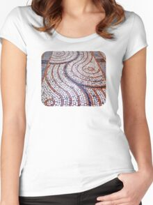 Tiled Street I  Women's Fitted Scoop T-Shirt