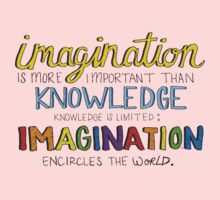 Imagination is MORE important Kids Clothes