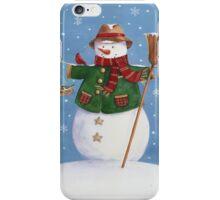Cute Country Snowman iPhone Case/Skin