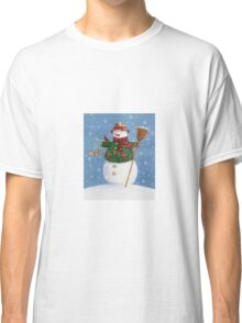 Cute Country Snowman Classic T-Shirt