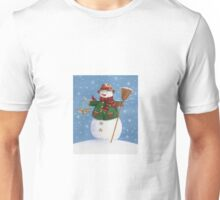 Cute Country Snowman Unisex T-Shirt
