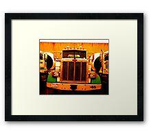 """""""Peterbilt Three""""  Cement Trucks Framed Print"""