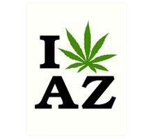 I Love Arizona Marijuana Cannabis Weed  Art Print