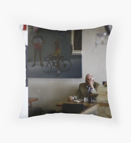 A quiet coffee ... Throw Pillow