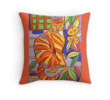 The Marmalade Cat Throw Pillow
