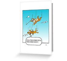 seeing eye dog Greeting Card