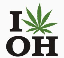 I Love Ohio Marijuana Cannabis Weed  by MarijuanaTshirt