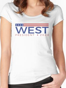 West for President Women's Fitted Scoop T-Shirt