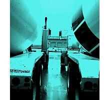 """Steel Blue"" Cement-Mixing Trucks Photographic Print"
