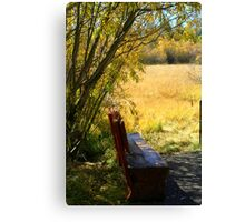 """trailside Bench"" Canvas Print"