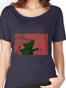 The green elephant Women's Relaxed Fit T-Shirt