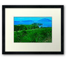 Blue & Green Islands - Great Barrier Reef Australia Framed Print