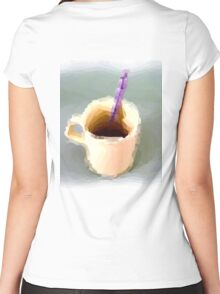 15 00222 watercolor Women's Fitted Scoop T-Shirt